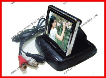 3.5 inch LCD TFT Foldable car Rear view Monitor Camera Rearview Reverse Backup