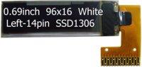 0.69inch white 96x16 14pin  internal DC-DC OLED display