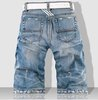 Wholesale - Hot sell !!  free shipping new style 2011 brand jeans cotton blue SIZE 28-36 Men's jeans men's short NO.p201112