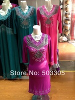 MS052317 free shipping lastest style high quality embroidered muslim abaya with diamond