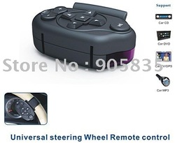 (CR-003) Free Shipping Universal Steering wheel Remote control for Car GPS/DVD/CD/MP5+New Product+Hot Selling(China (Mainland))