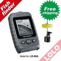 Free shipping!! Floating transducer, fishing tackle Portable sonar depth sounder