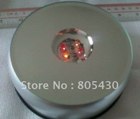 free shipping ,Unique Crystal Rotating 7 LED Light Jewelry /Display Base Stand,Rotating  LED Light Display Base