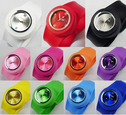 drop shipping 1pc silicone slap watch, silicon jelly watches,silicon watch wristwatches W021(China (Mainland))