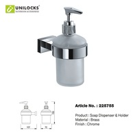 Wholesale!!! 10Pcs/Dozen Polished Chrome Brass Bathroom Soap Dispenser & Holder 225755