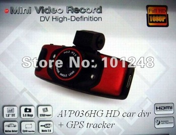 GS5000 Full HD 1080P Car DVR Cam Recorder Camcorder Vehicle Dashboard Camera Built In GPS/G-Sensor+1.5inch+H.264 Video Codecr