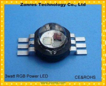 Wholesale 3watt RGB High Power LED Lamp Epistar Chip  with CE&ROCHS