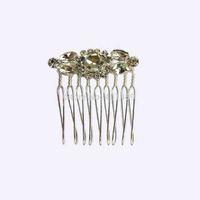 6Pcs lot free shipping silver glass rhinestone mini bridal wedding hair comb jewelry accessories