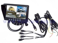 7inch Car Monitor / CCTV Monitor with 4CH Quad
