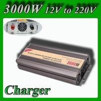 Meind Modified Sine Wave power inverter 3000w peak 6000W DC 12V to AC 220V 230V 240V power converter + battery charge function