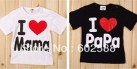 20pcs Baby short sleeve shirt top clothes i love mama papa shirts tops children clothing wears out wearin  bbn