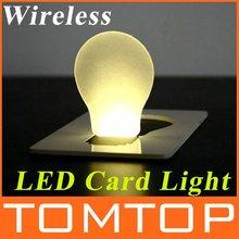 Mini light Pocket LED Card Light Wallet led lamp light retail and wholesale free shipping(China (Mainland))
