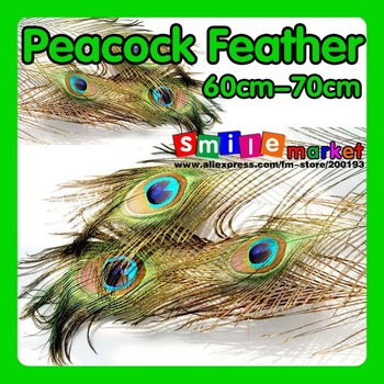 Free shipping FEDEX/DHL new arrival top quality 500pcs/lot length 60cm-70cm eye-width3cm beautiful natural peacock feather