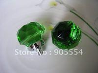 D25mmxH30mm Free shipping green crystal glass cabinet drawe knob/cabinet knob