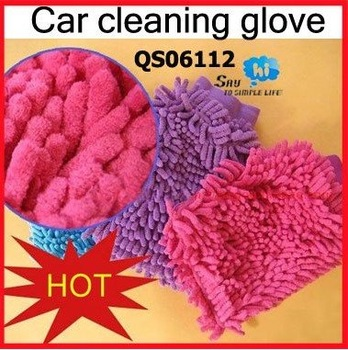 WHOLESALE Cleaning Glove Chenille Soft Material Microfiber Furniture Car House Auto Wash Promotion Gift 8Pcs/Lot Say Hi 06112