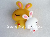Free Shipping Wholesale Guaranteed full capacity Rabbit Cute USB Flash Drives 2gb 4gb 8gb 16gb 32gb 64gb