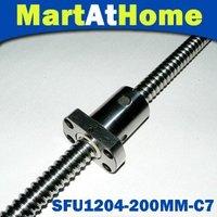 Free Shipping High-quality MAH Anti Backlash Linear Ballscrew RM 1204-200mm-C7 XYZ CNC with nut and end machined #SM160 @CF
