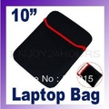 "Free Shipping 10""Black Sleeve Neoprene Case Tablet PC Bag Ebook Pouch 10pcs/lot"