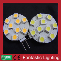 factory wholesale G4 led bulb 9pcs 5050 led's.Wide voltage 12VAC/DC Warm white color free shipping by DHL