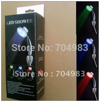 Self-powered LED shower head,Temperature Control 3 Color Shower Head ,Led faucets