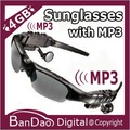 Sports Sunglasses with 4GB MP3 Player Headphone Headset mp3 glasses