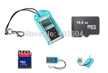 Free Shipping 2GB 4GB 8GB 16GB 32GB Micro TF SD Memory Card+Adapter+Card Reader