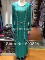 100% guaranteed free shipping,11061505,Muslim printed chiffon abaya with pattern,fancy style,new Product