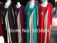 100% guaranteed free shipping,11061507,Muslim printed chiffon abaya with pattern,fancy style,new Product
