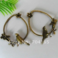 Free shipping Hot sale New arrival item ancient bronze plating  bird in cage  charms QM0079  35pcs/lot
