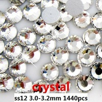 1440pcs ss12 flatback nail Rhinestones same day shipping #01-#16 to choose