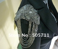 Free shipping 065~Cool, Punk, Retro,Bbeads,Tassels Brooches  Badges  Shoulder Knot  Christmas  Gift