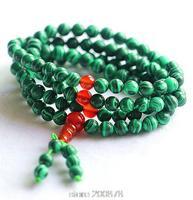 BRO942   Buddhist 108 beads Malachite Color Meditation prayer beads Mala,6mm,Wholesale Fashion summer bracelets