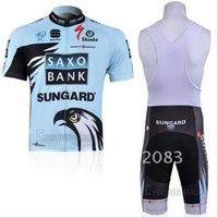 Free shipping retail and wholesale,2011 SAXO BANK sling, strap  short-sleeved jersey, Cycling Wear