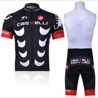 Free shipping retail and wholesale,2011 castelli sling, strap  short-sleeved jersey, Cycling Wear