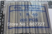 Free Shipping and  Brand New 200pcs in original package  Single Row Male 1X40 Pin Header Strip 2.54 mm