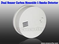 Free shipping CO Carbon Monoxide sensor & smoke sensor  2 in 1 detector CO detector