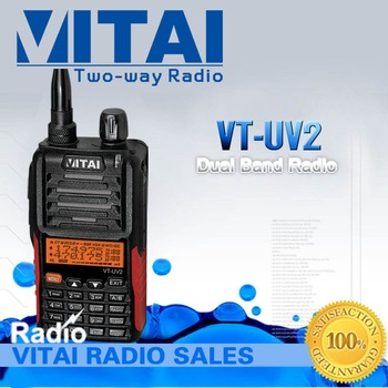 Free Shipping Dual Band  Handheld Two Way Radio VT-UV2 Output Power 5w  Long Talkie Range