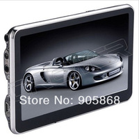 Hot 5 inch GPS navigation with MP3 MP4 FM built in 4G+ 128DDR+800MHZ FREE NEW map car gps navigator