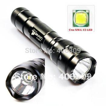502B XML U2 Ultrafire WF-502B Cree XM-L U2 1300 Lumen 5-Mode LED Flashlight (1*18650) + Free Shipping