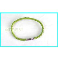 Free Shipping Wholesale 100pcs/Lot Green Braided Leather Cord Bracelets Unisex Fashion Bracelets Christmas Gift
