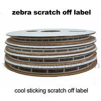 Zebras Scratch off label 8*40mm