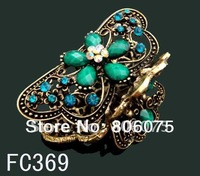 free shipping butterfly fashion rhinestone hair claw,  FC369