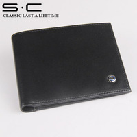 S.C Free Shipping wholesale  100% Genuine Leather Pocket Purse for men 2013 fashion Hot Wallet Credit card Wallets best  price