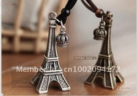 Free Shipping/Alloy Necklace/Story Pendant/ Fashion Eiffel Tower Necklace/ Birthday Present/ Promotion Gifts/Girls Favorite