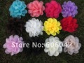 Free shipping!70pcs/lot 4.5&quot;chiffon silk flowers,rosette flowers,petti skirt flowers, mix colors