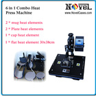 Free Shipping 6 in 1 Combo Heat Press, Heat Press Transfer Machine(China (Mainland))