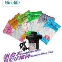 All Sizes Nice life Vacuum Storage  Bag 6pcs + 1pcs Electric pump Wholesale Price