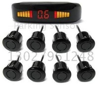 Guaranteed 100% New LED Display Car Parking Sensor System with 8 Sensors Parking Radar+2010 Best Selling !