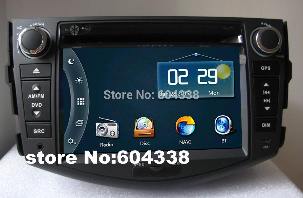 car DVD(Android 4.2 optional) for (2006-2012)Toyota RAV4/Vanguard, GPS+BT+FM+IPOD+ATV+4G SD card with map(China (Mainland))