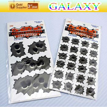 free shipping by fedex 100pcs brand new  vinyl bullet holes motorcycle sticker 24 mini regular shotholes auto design